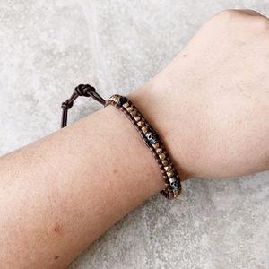 Chan Luu Gold Skull Single Bracelet